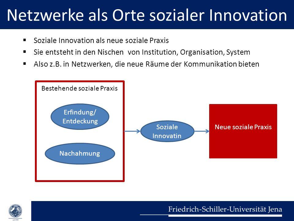 Netzwerke als Orte sozialer Innovation