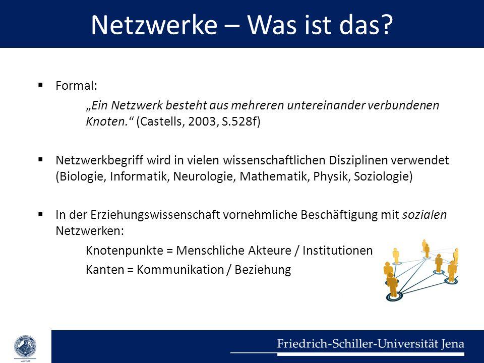 Netzwerke – Was ist das Formal:
