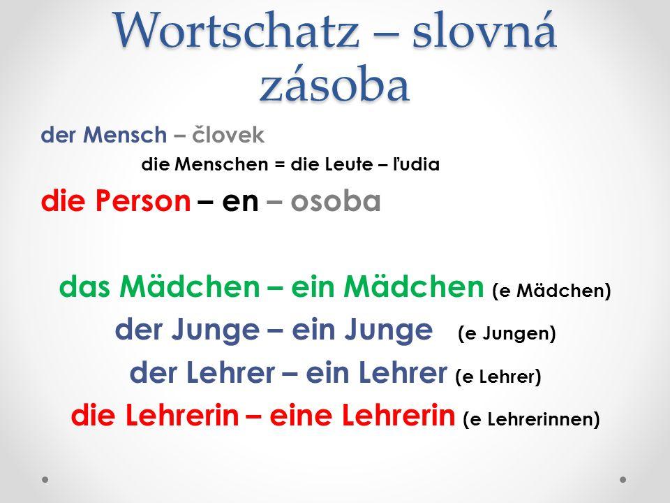 Wortschatz – slovná zásoba