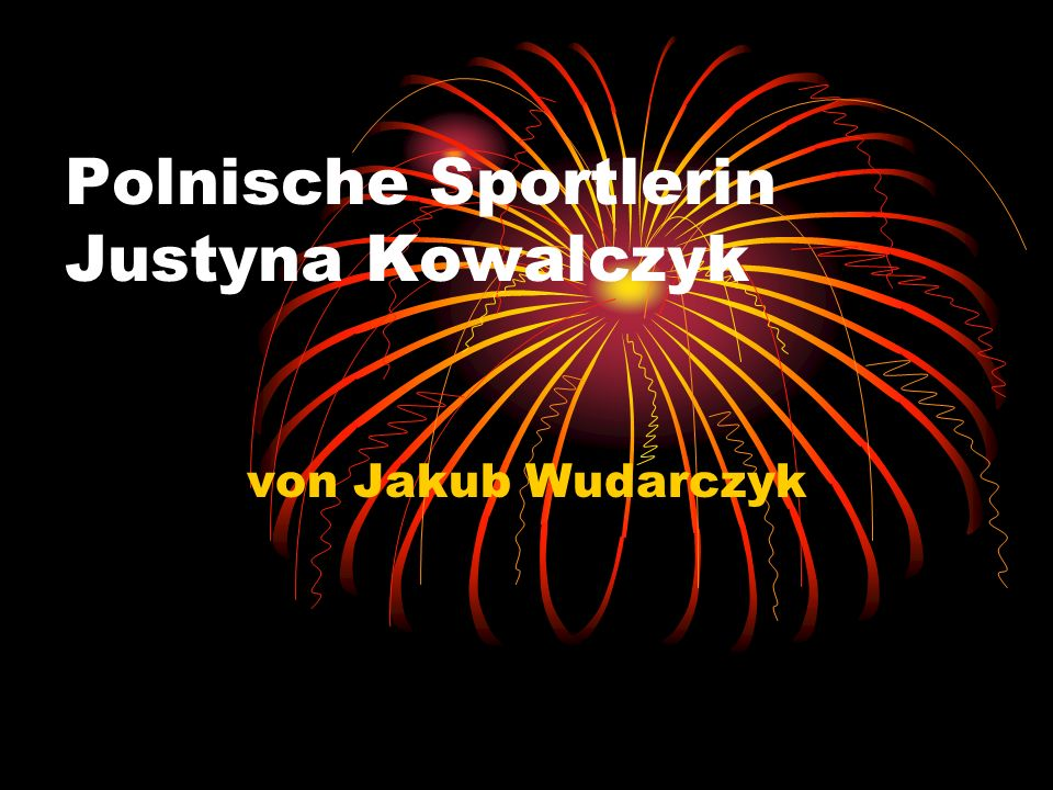 Polnische Sportlerin Justyna Kowalczyk