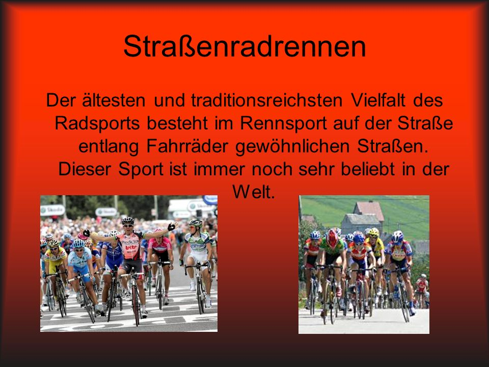Straßenradrennen