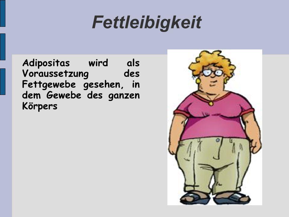 Fettleibigkeit Adipositas wird als Voraussetzung des Fettgewebe gesehen, in dem Gewebe des ganzen Körpers.