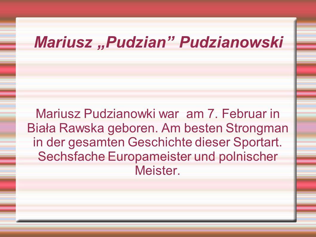 """Mariusz """"Pudzian Pudzianowski"""