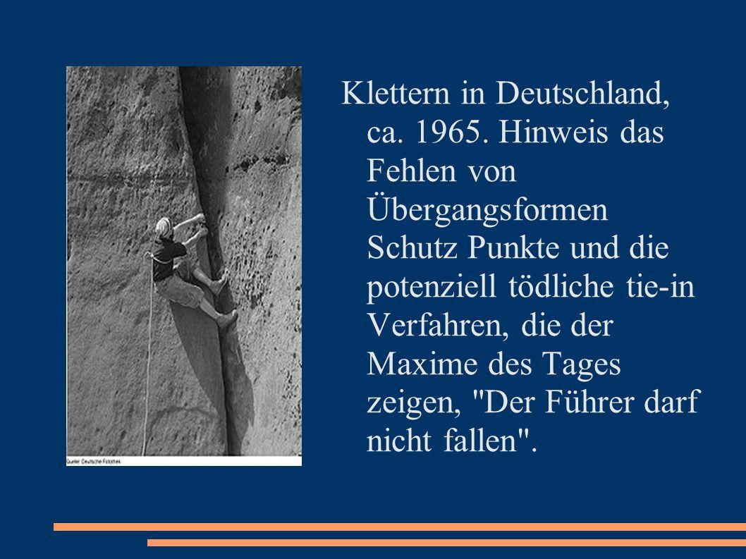Klettern in Deutschland, ca. 1965