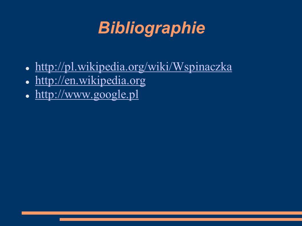 Bibliographie http://pl.wikipedia.org/wiki/Wspinaczka