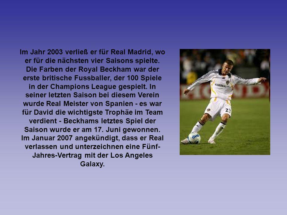 Im Jahr 2003 verließ er für Real Madrid, wo er für die nächsten vier Saisons spielte.