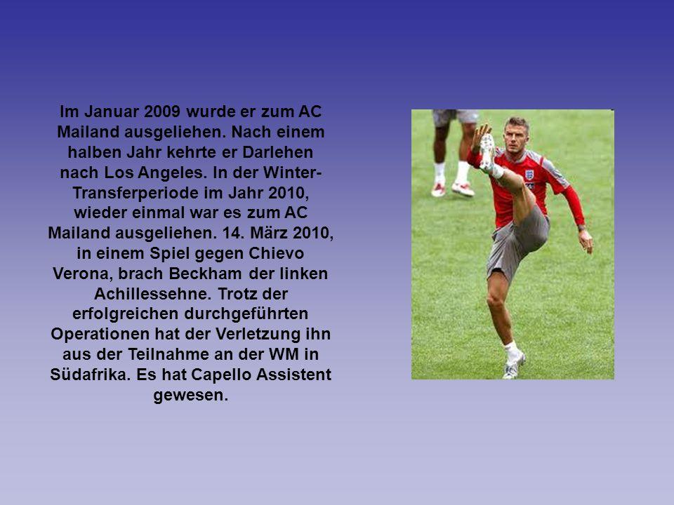 Im Januar 2009 wurde er zum AC Mailand ausgeliehen