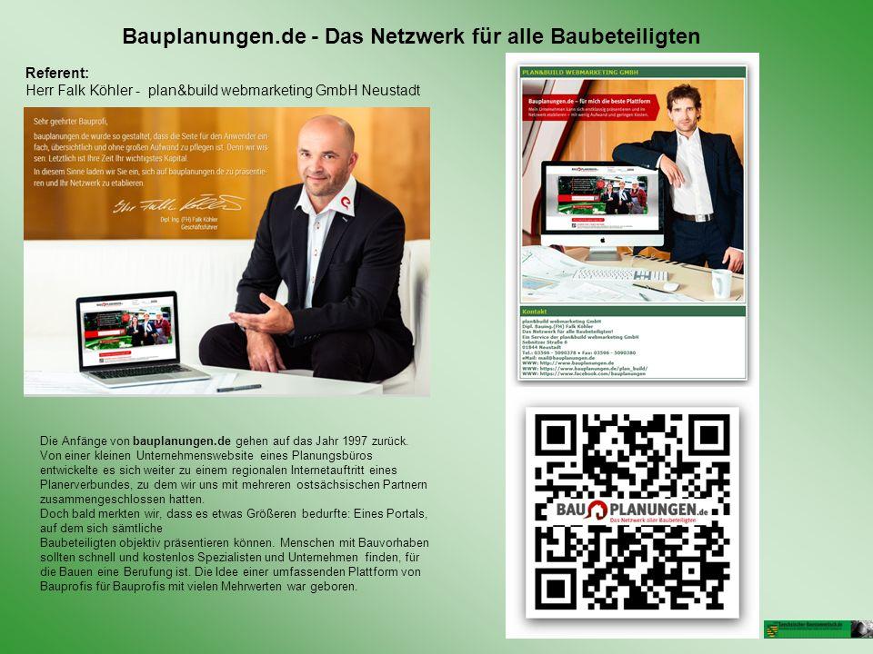 Bauplanungen.de - Das Netzwerk für alle Baubeteiligten