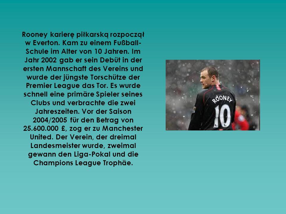 Rooney karierę piłkarską rozpoczął w Everton
