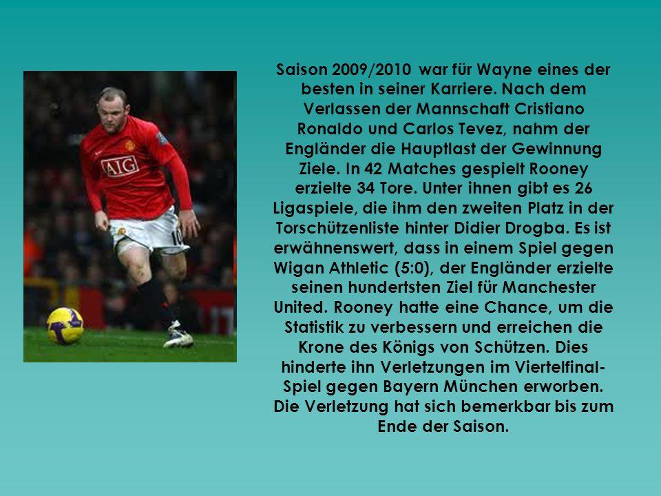 Saison 2009/2010 war für Wayne eines der besten in seiner Karriere