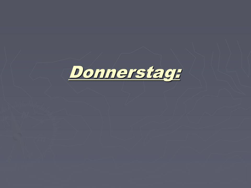 Donnerstag: 20