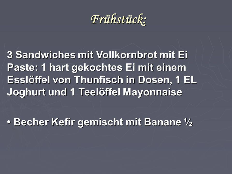 Frühstück:
