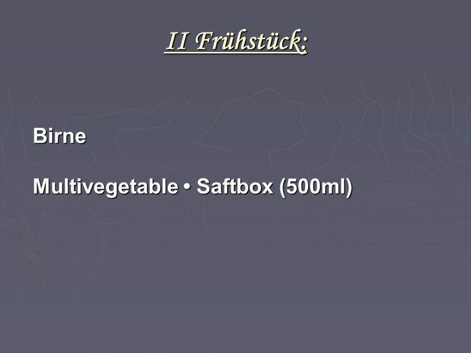 II Frühstück: Birne Multivegetable • Saftbox (500ml) 4