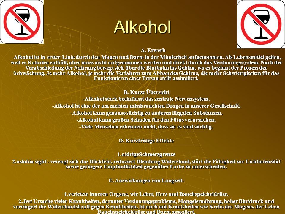 Alkohol A. Erwerb.