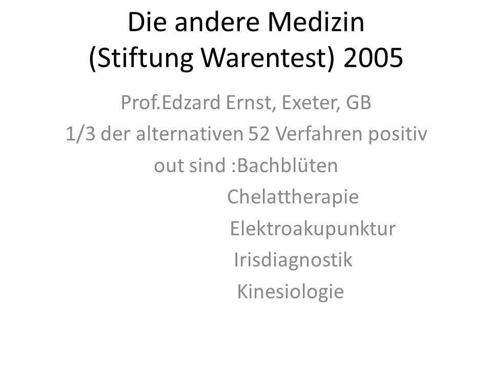 Die andere Medizin (Stiftung Warentest) 2005