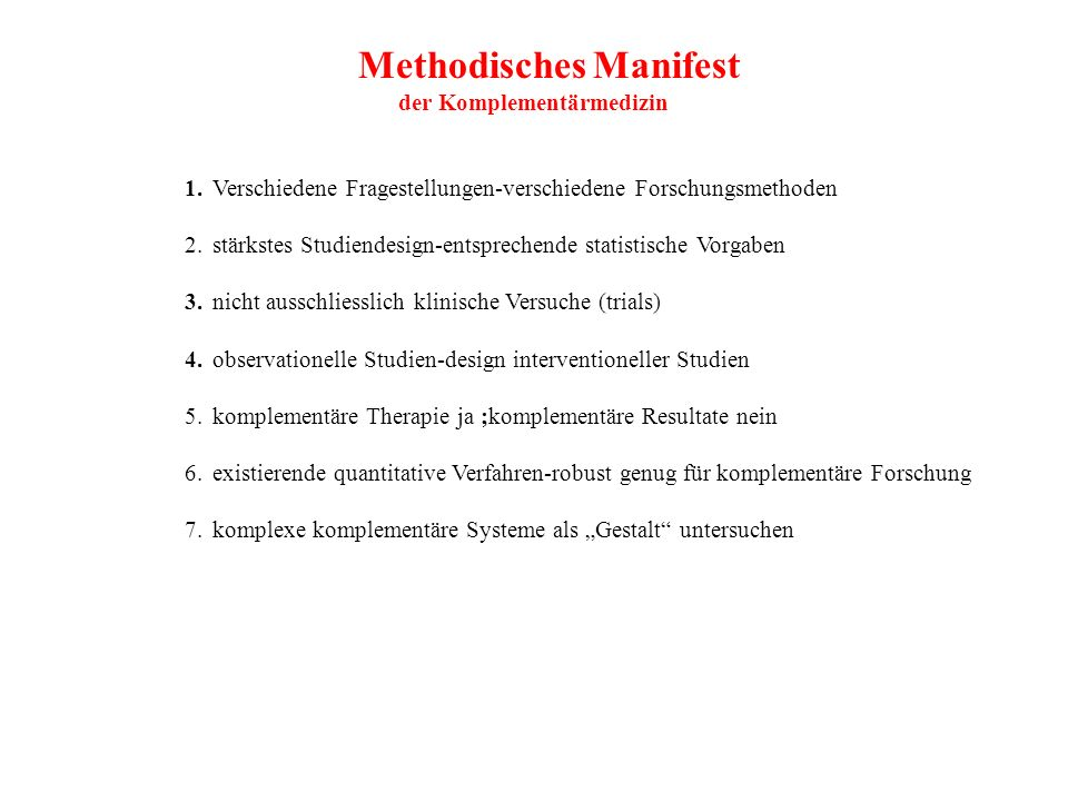 Methodisches Manifest