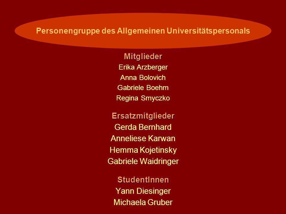 Personengruppe des Allgemeinen Universitätspersonals