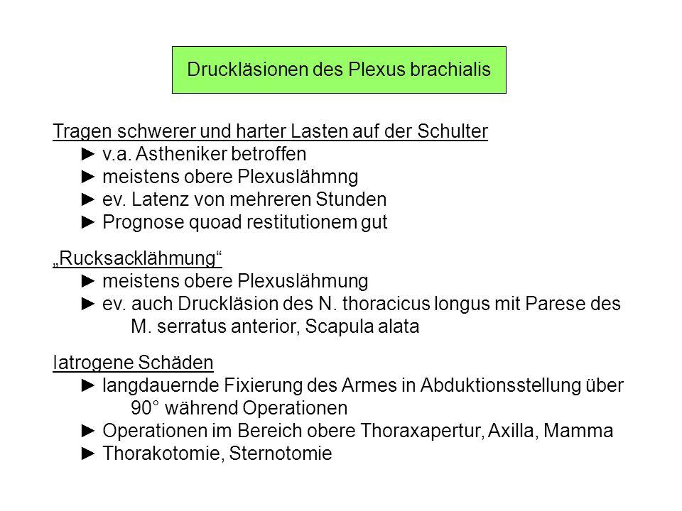 Druckläsionen des Plexus brachialis