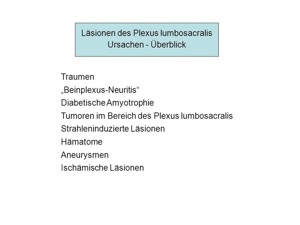 Läsionen des Plexus lumbosacralis