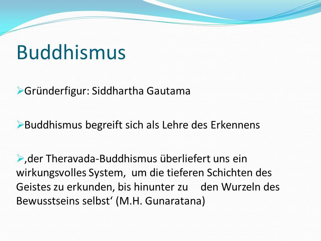Buddhismus Gründerfigur: Siddhartha Gautama