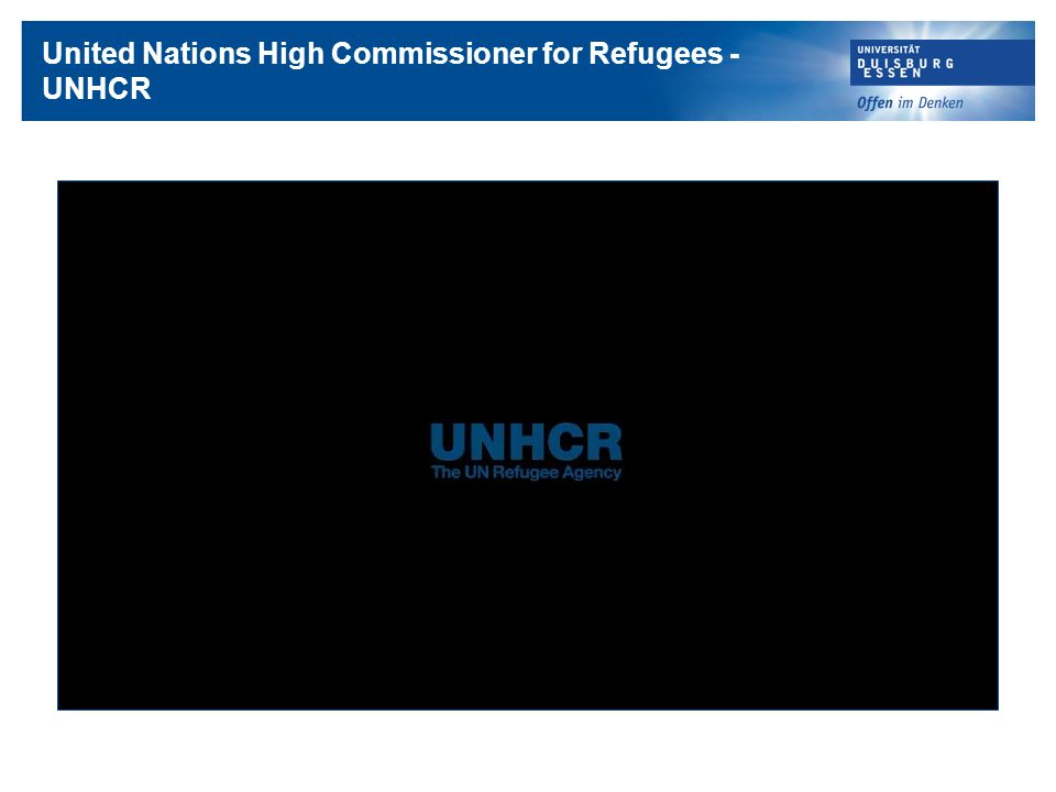 United Nations High Commissioner for Refugees -UNHCR