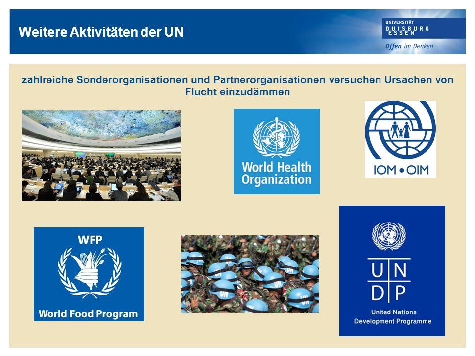 Weitere Aktivitäten der UN