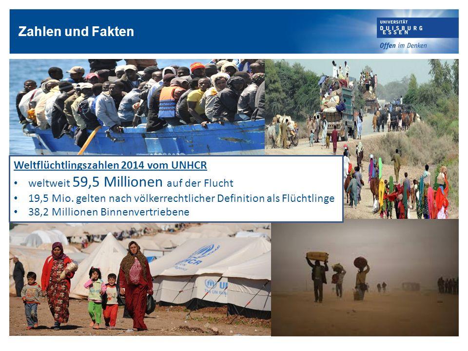 Zahlen und Fakten Weltflüchtlingszahlen 2014 vom UNHCR