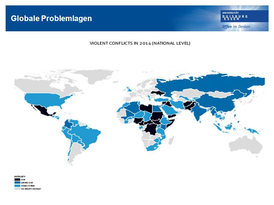 Globale Problemlagen Quelle: http://www.hiik.de/de/konfliktbarometer/pdf/ConflictBarometer_2014.pdf