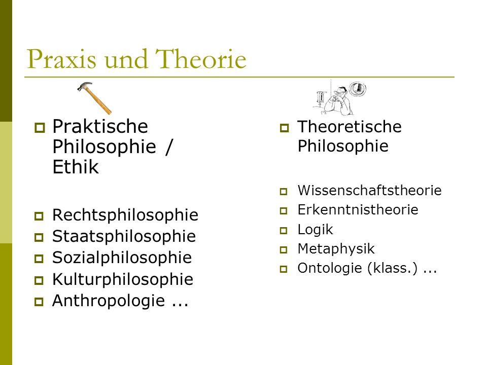 Praxis und Theorie Praktische Philosophie / Ethik