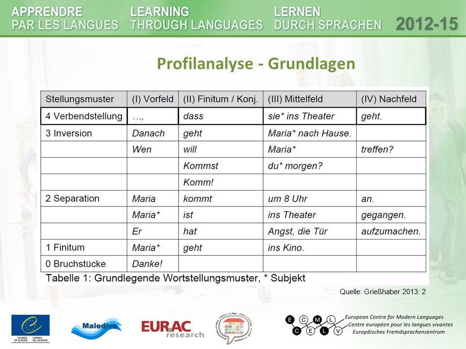 Profilanalyse - Grundlagen