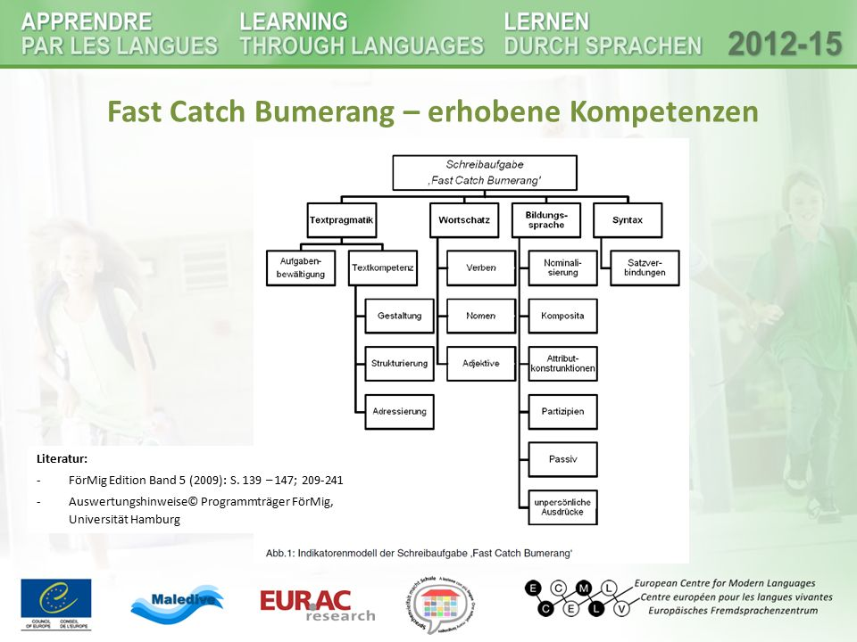 Fast Catch Bumerang – erhobene Kompetenzen