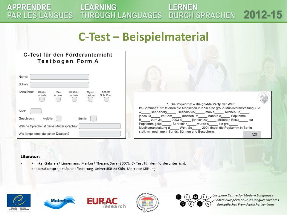 C-Test – Beispielmaterial