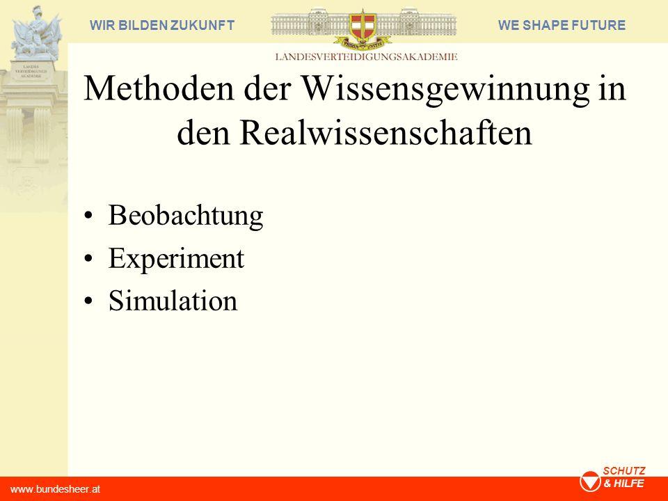 Methoden der Wissensgewinnung in den Realwissenschaften