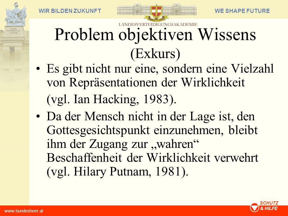 Problem objektiven Wissens (Exkurs)
