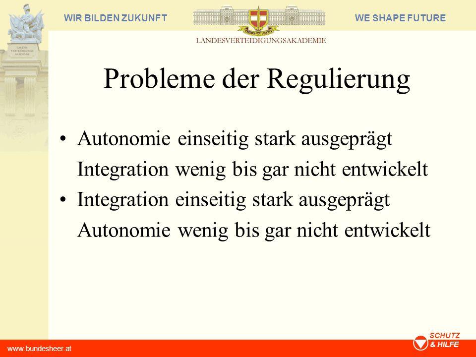 Probleme der Regulierung