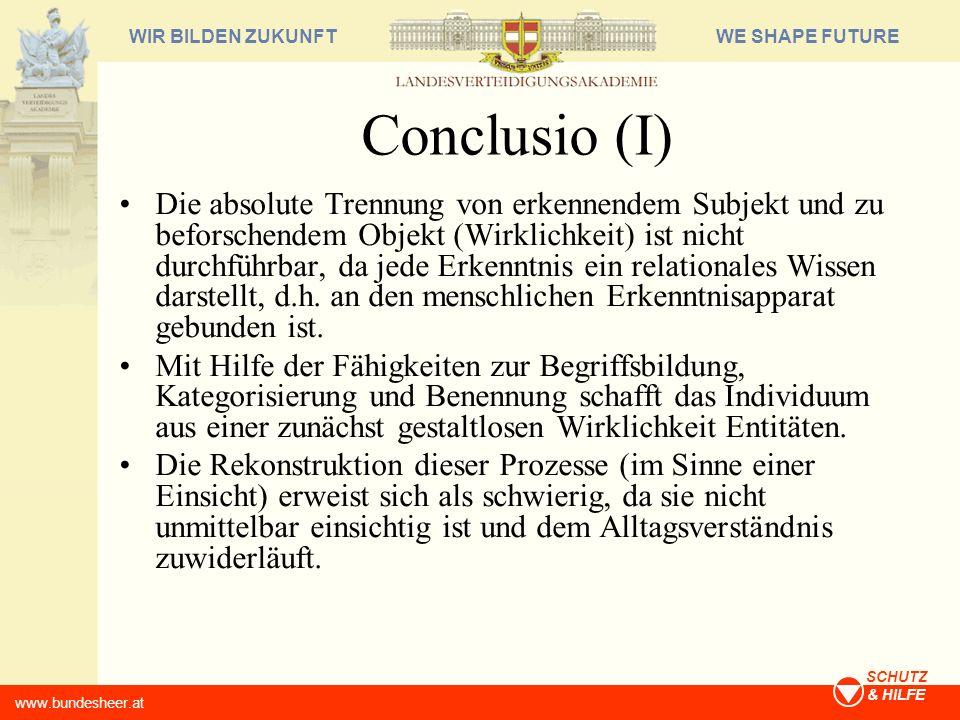 Conclusio (I)