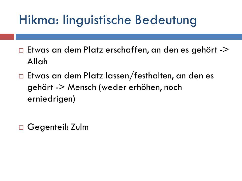 Hikma: linguistische Bedeutung