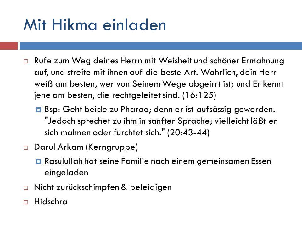 Mit Hikma einladen