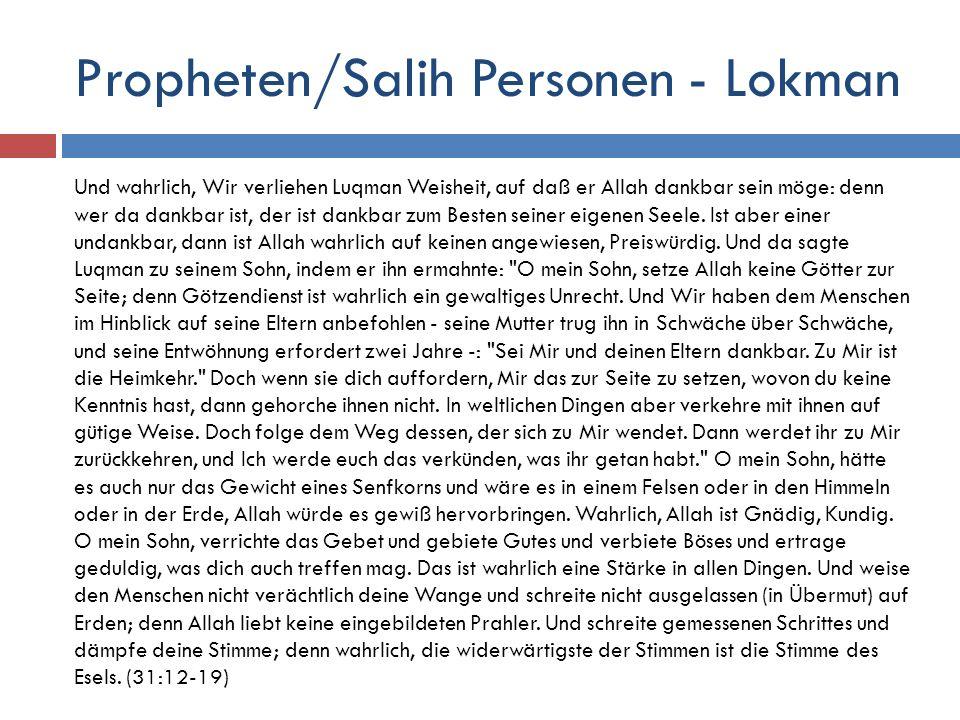 Propheten/Salih Personen - Lokman