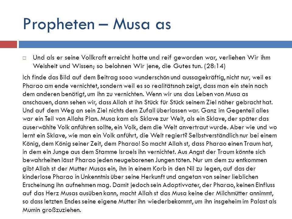 Propheten – Musa as