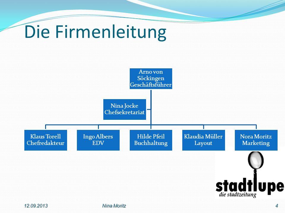 Die Firmenleitung 12.09.2013 Nina Moritz