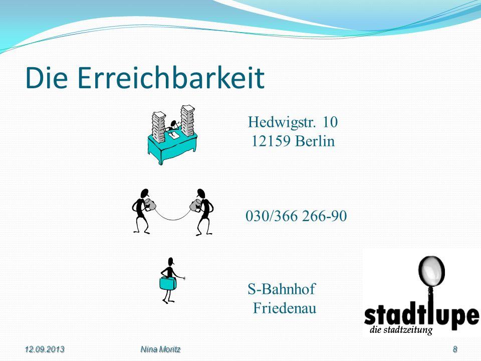 Die Erreichbarkeit Hedwigstr. 10 12159 Berlin 030/366 266-90