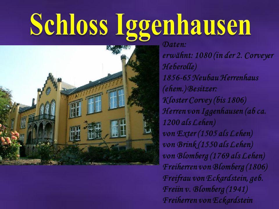 Schloss Iggenhausen Daten: