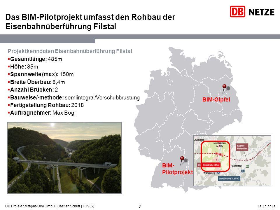 Das BIM-Pilotprojekt umfasst den Rohbau der Eisenbahnüberführung Filstal