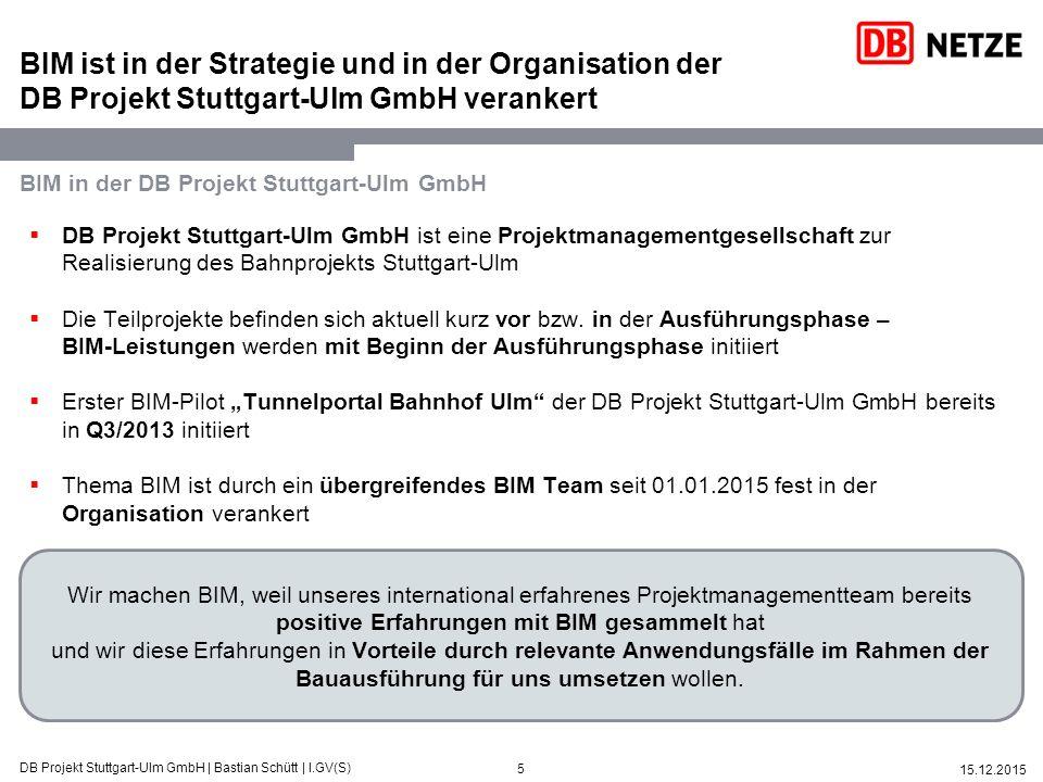 BIM ist in der Strategie und in der Organisation der DB Projekt Stuttgart-Ulm GmbH verankert