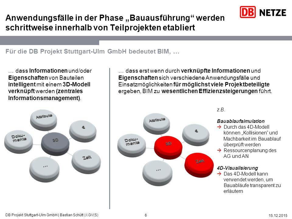 """Anwendungsfälle in der Phase """"Bauausführung werden schrittweise innerhalb von Teilprojekten etabliert"""