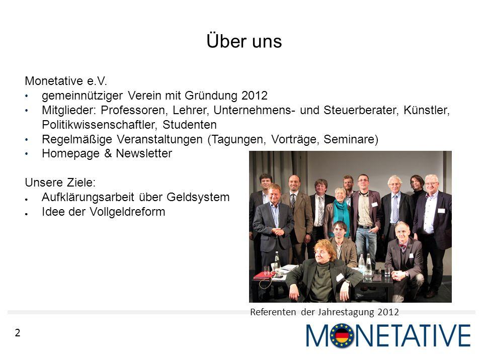Über uns Monetative e.V. gemeinnütziger Verein mit Gründung 2012