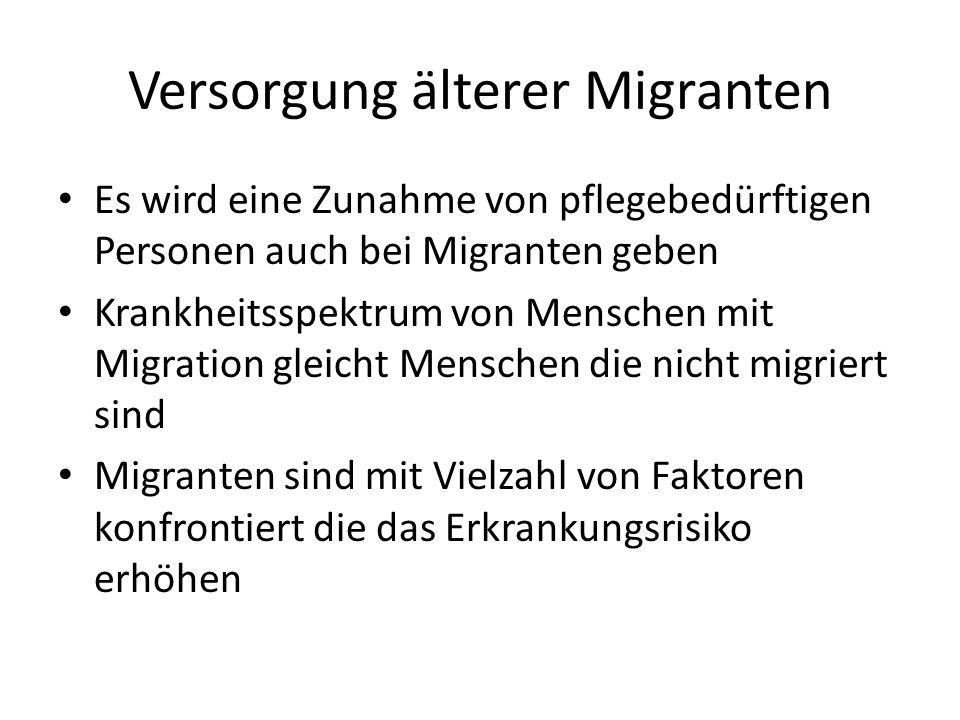 Versorgung älterer Migranten