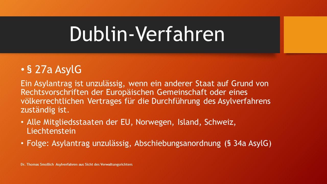 Dublin-Verfahren § 27a AsylG