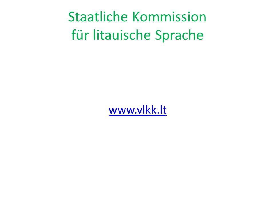 Staatliche Kommission für litauische Sprache